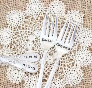 Doctor Who Wedding Forks
