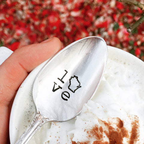Love Wisconsin State Home Spoon