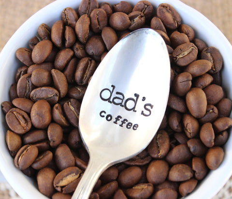 Dad's Coffee - Handstamped Spoon