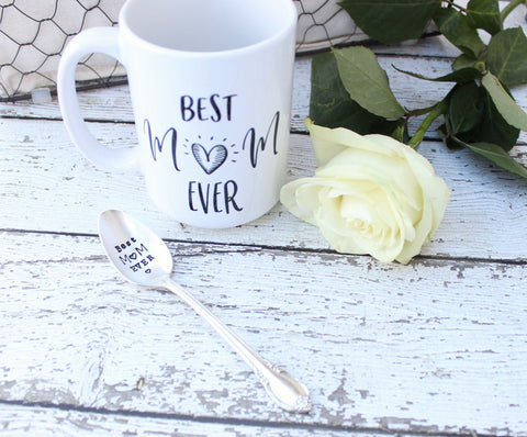 Best Mom Ever Spoon Mug Set