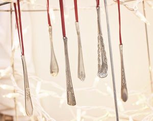 Christmas Tree Icicles - Upcycled Spoon Handle