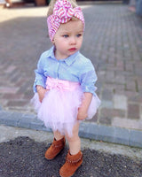 Skirt and Button up 0-4T