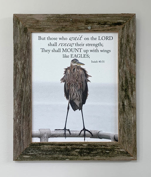 Eagle - Canvas Framed in Barn Wood
