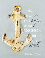 Anchor - Canvas Framed in Barn Wood