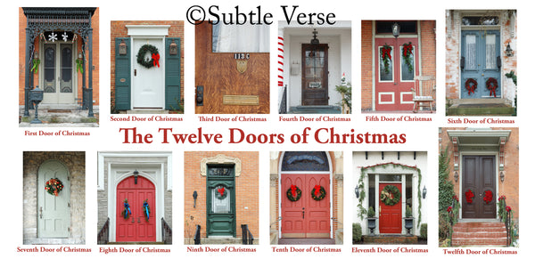 12 Doors of Christmas Cards - Print