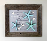 Stars - Canvas Framed in Barn Wood