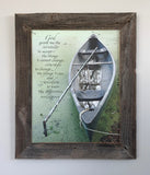 Serenity - Canvas Framed in Barn Wood