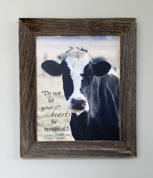 Betsy - Canvas Framed in Barn Wood
