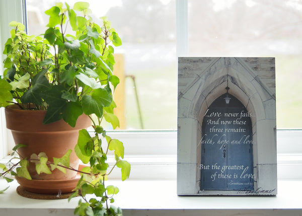 Faith, Hope, and Love - Ready to Hang Plaque