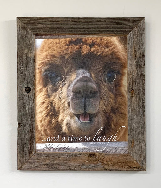Brutus - Canvas Framed in Barn Wood