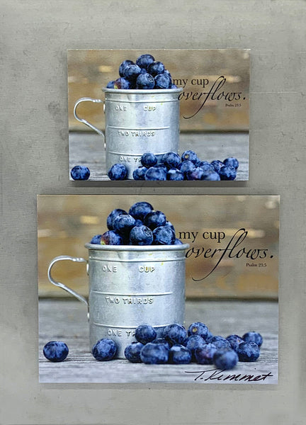 Cup of Blueberries - Magnet and Deluxe Magnet