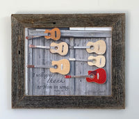 Praise Guitars - Canvas Framed in Barn Wood