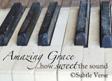 Amazing Grace in barn wood frame