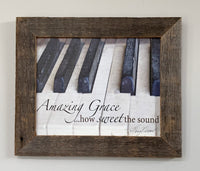 Amazing Grace - Canvas Framed in Barn Wood