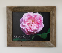 Just Believe - Canvas Framed in Barn Wood