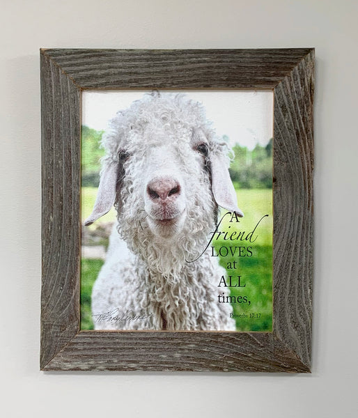 Loving Friend - Canvas Framed in Barn Wood