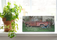 Father's Truck - Ready to Hang Plaque