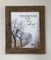 Wherever - Canvas Framed in Barn Wood