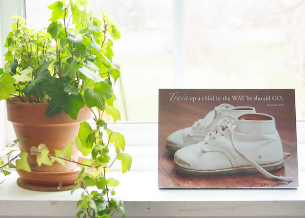 Baby Shoes - Ready to Hang Plaque