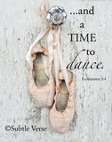 Time to Dance - Canvas Framed in Barn Wood