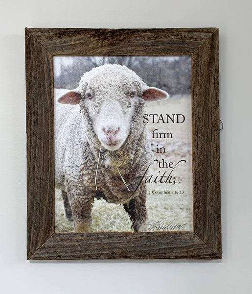 Stand - Canvas Framed in Barn Wood