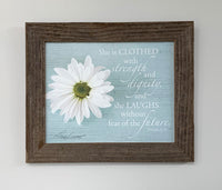 Daisy - Canvas Framed in Barn Wood