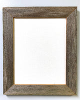 See - Canvas Framed in Barn Wood