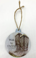 Walk by Faith Boots Ornament