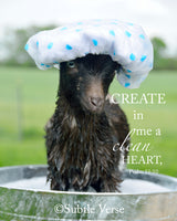 Clean Heart Goat - Ready to Hang Plaque