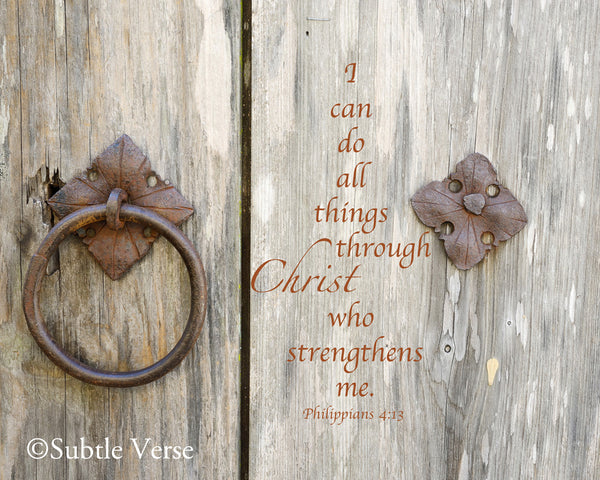 Christ Strengthens - Canvas Framed in Barn Wood