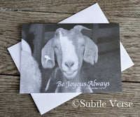 The Happy Goat - Notecard