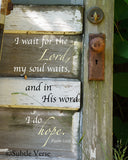 Hope Door - Canvas Framed in Barn Wood