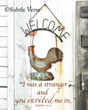 Welcome - Canvas Framed in Barn Wood
