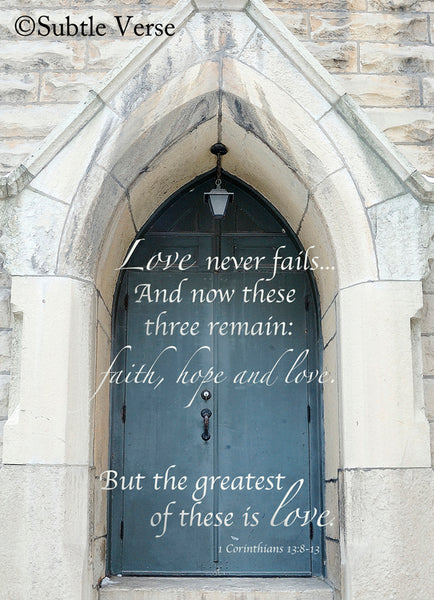 Faith, Hope, and Love - Canvas Framed in Barn Wood