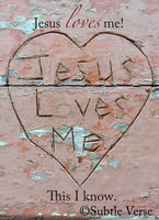 Jesus Loves Me - Ready to Hang Plaque
