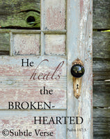 Brokenhearted - Canvas Framed in Barn Wood