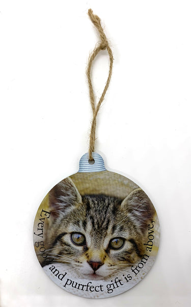 Frankie the Cat Ornament