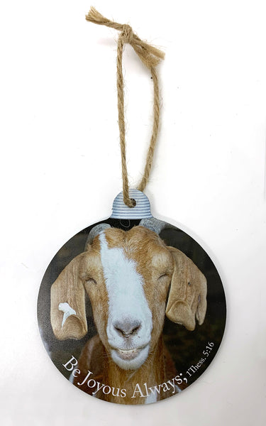 Happy Goat Ornament
