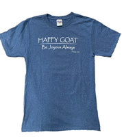Close Out - Happy Goat Tee - Blue Heather