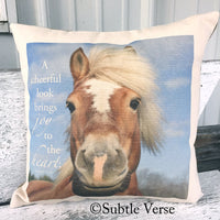 Joyful Horse Decorative Pillow