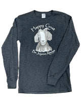 The Happy Goat Tee - Black Heather Long Sleeve