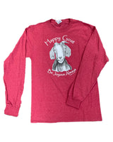 The Happy Goat Tee - Heather Red Long Sleeve