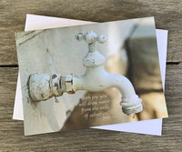 Old Faucet - Notecard