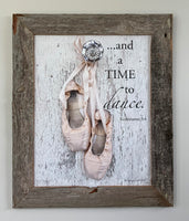 Oops - Time to Dance framed in Barn Wood - 11x14
