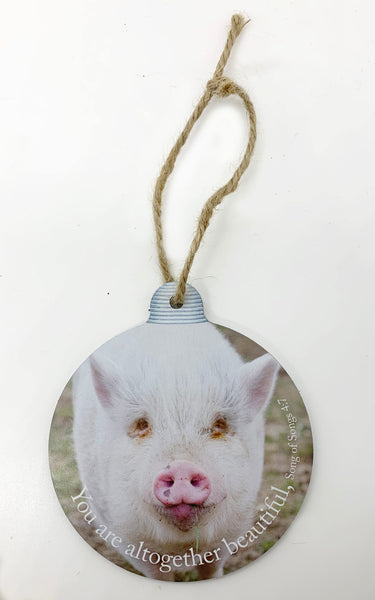 Beautiful Pig Ornament