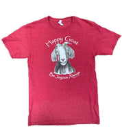 The Happy Goat Tee - Heather Red