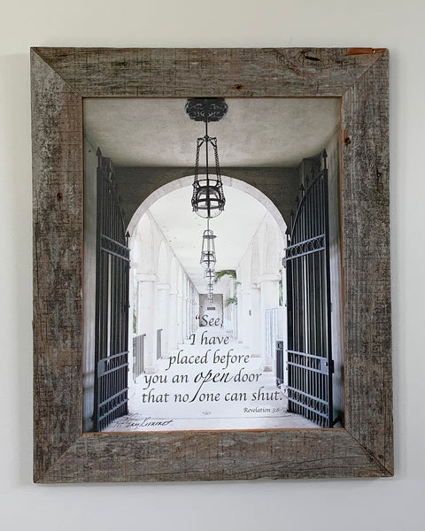 Oops - See framed in Barn Wood - 11x14