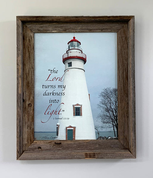 Close Out - Framed Marblehead Lighthouse - 11x14