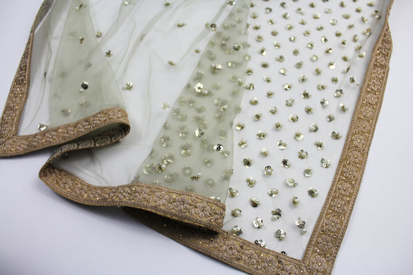 heavily embroidered dupatta