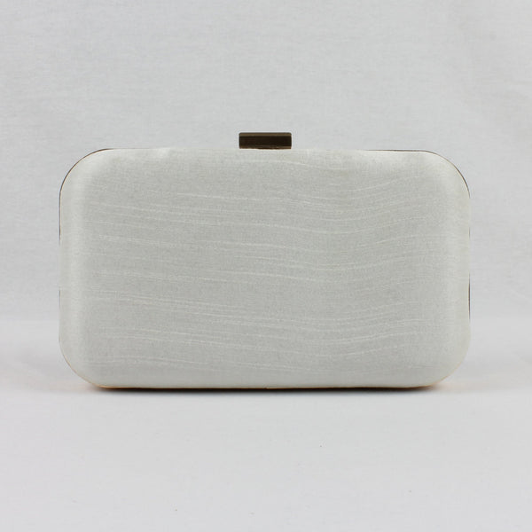 white indian clutch bag